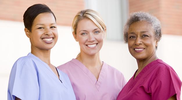 woman caregivers smiling